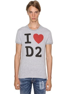 Dsquared2 Printed Chic Dan Cotton Blend T-shirt