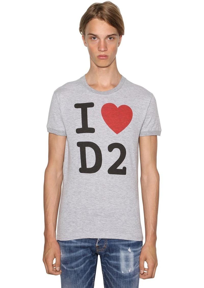 Dsquared2 Printed Chic Dan Cotton Blend T-shirt