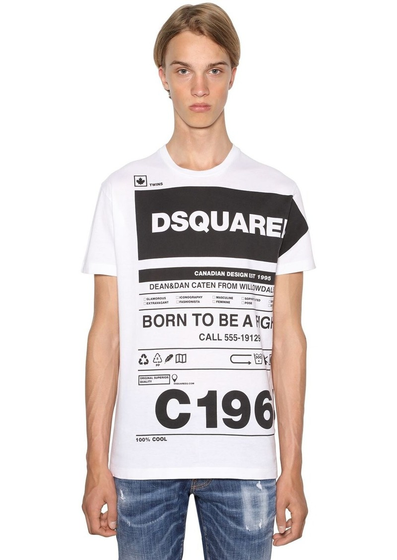 Dsquared2 Printed Cool Guy Cotton Jersey T-shirt