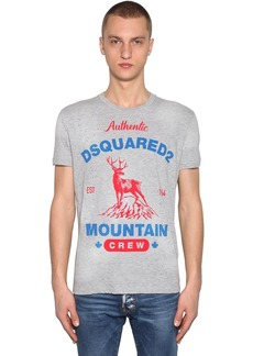 Dsquared2 Printed Cotton Jersey & Viscose T-shirt