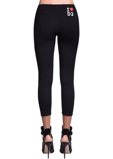 Dsquared2 Printed Cotton Jersey Leggings