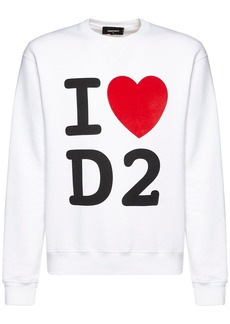 Dsquared2 Printed Cotton Jersey Sweater