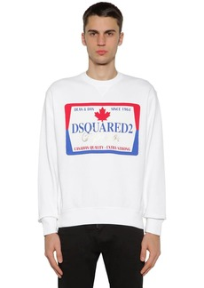 Dsquared2 Printed Cotton Jersey Sweatshirt