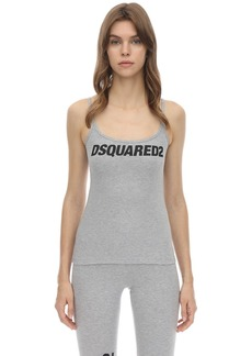 Dsquared2 Printed Cotton Jersey Tank Top