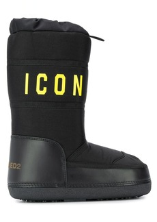 Dsquared2 printed detail snow boots