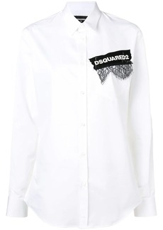 Dsquared2 printed lace appliqué shirt