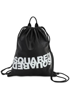 Dsquared2 Printed Leather Backpack