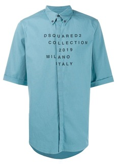 Dsquared2 printed logo button-up shirt