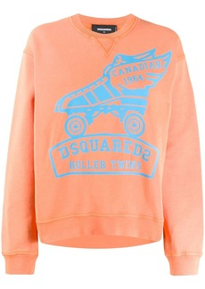 Dsquared2 printed logo sweatshirt