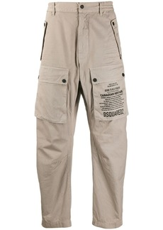 Dsquared2 printed logo tapered trousers