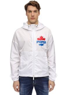 Dsquared2 Printed Nylon Zip Hooded Jacket