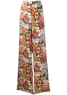 Dsquared2 printed palazzo pants