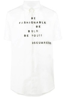 Dsquared2 printed shortsleeved shirt