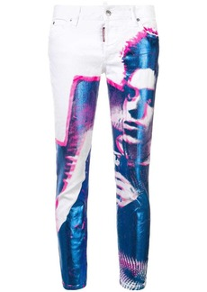 Dsquared2 printed skinny jeans