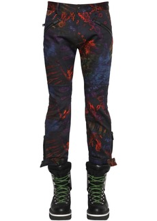 Dsquared2 Printed Tie Dye Cotton Biker Pants