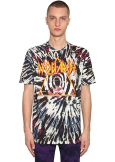Dsquared2 Printed Tie Dye Cotton Jersey T-shirt