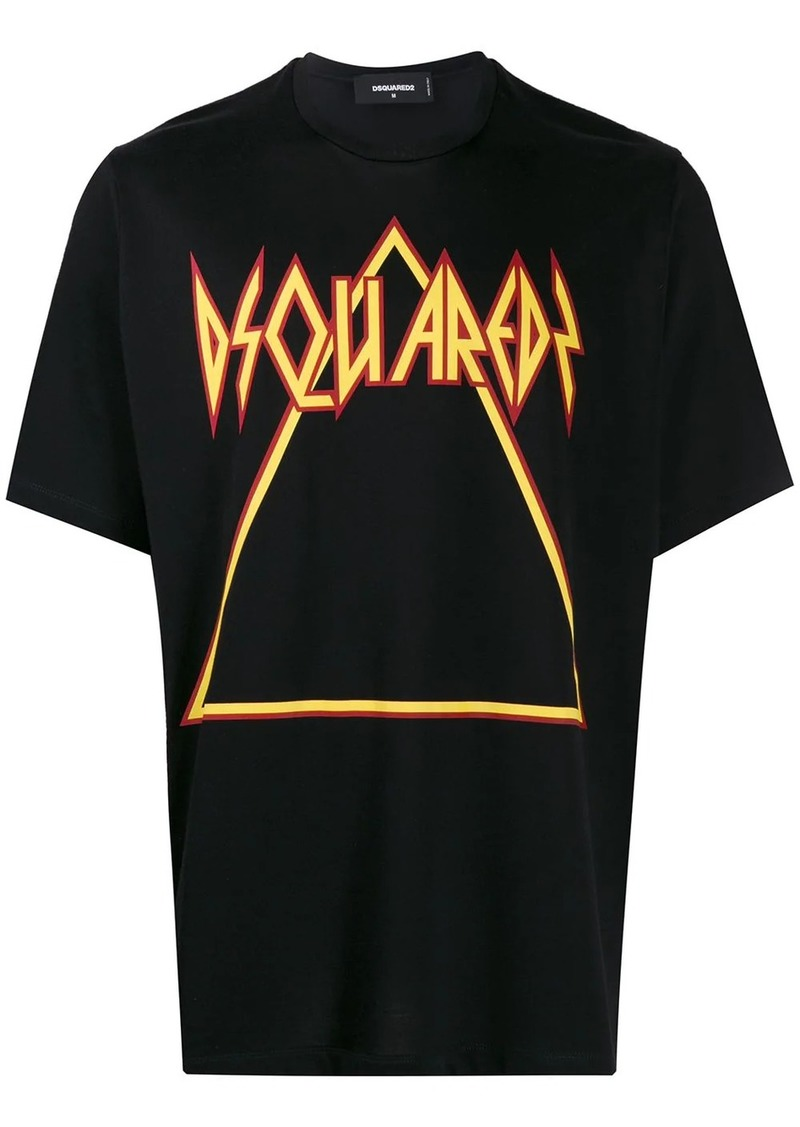 Dsquared2 printed triangle logo T-shirt
