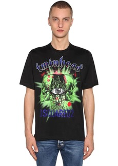 Dsquared2 Printed Viscose & Cotton Jersey T-shirt