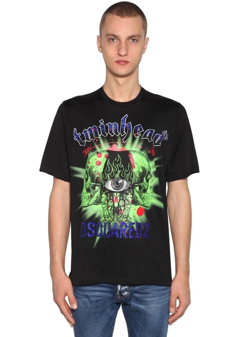 Dsquared2 Printed Viscose & Cotton Jersey T-shirt