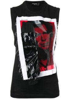 Dsquared2 punk appliqué vest