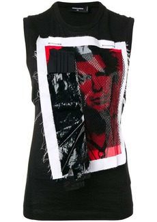 Dsquared2 punk appliqué vest