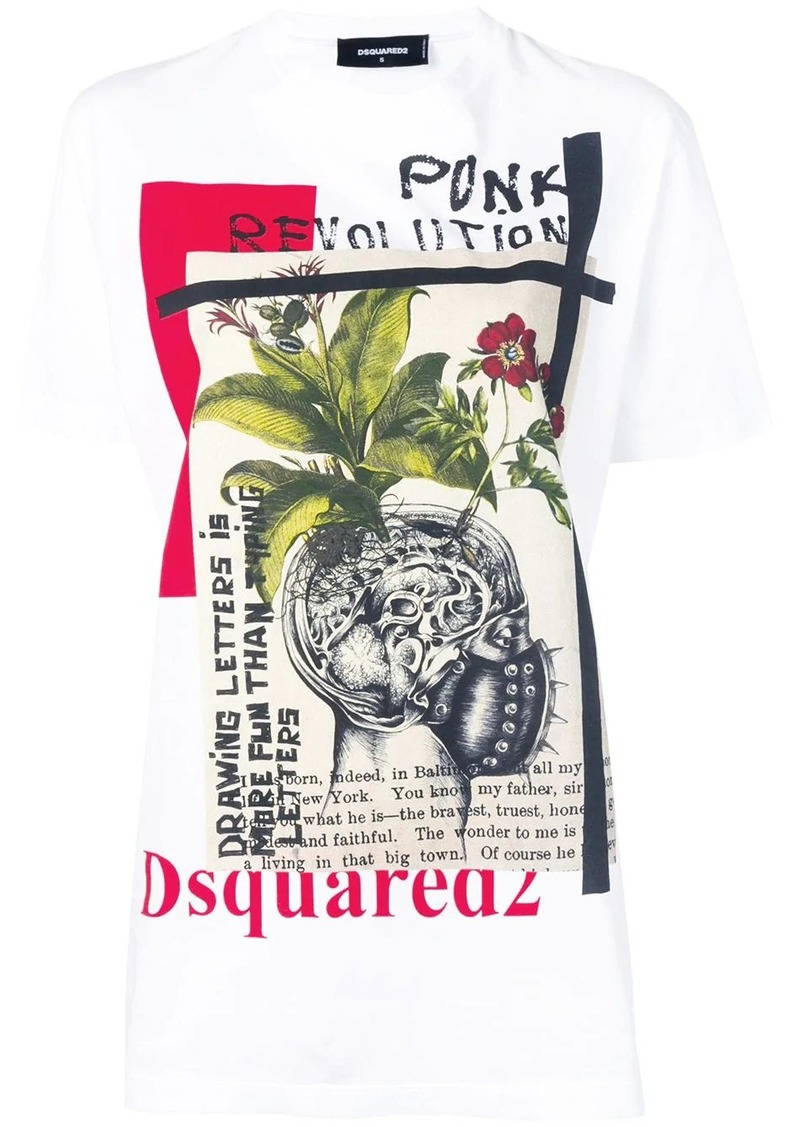 Dsquared2 'Punk Revolution' print T-shirt