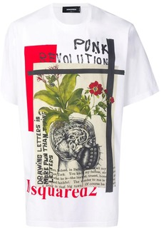 Dsquared2 Punk Revolution print T-shirt