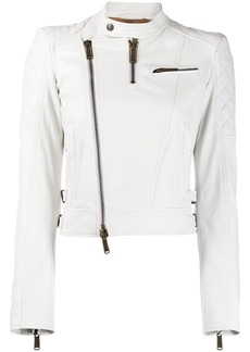Dsquared2 quilted panelled biker jacket