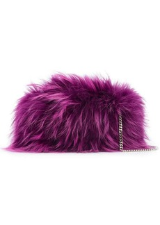Dsquared2 raccoon fur clutch bag