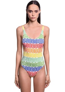 Dsquared2 Rainbow Logo One Piece Swimsuit