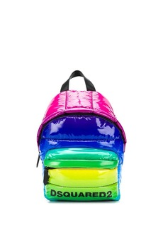 Dsquared2 Rainbow quilted backpack