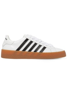 Dsquared2 Rapper's Delight Stripe Leather Sneakers