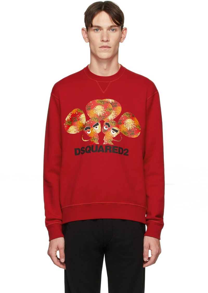 Dsquared2 Red Mouse Cool Fit Sweatshirt