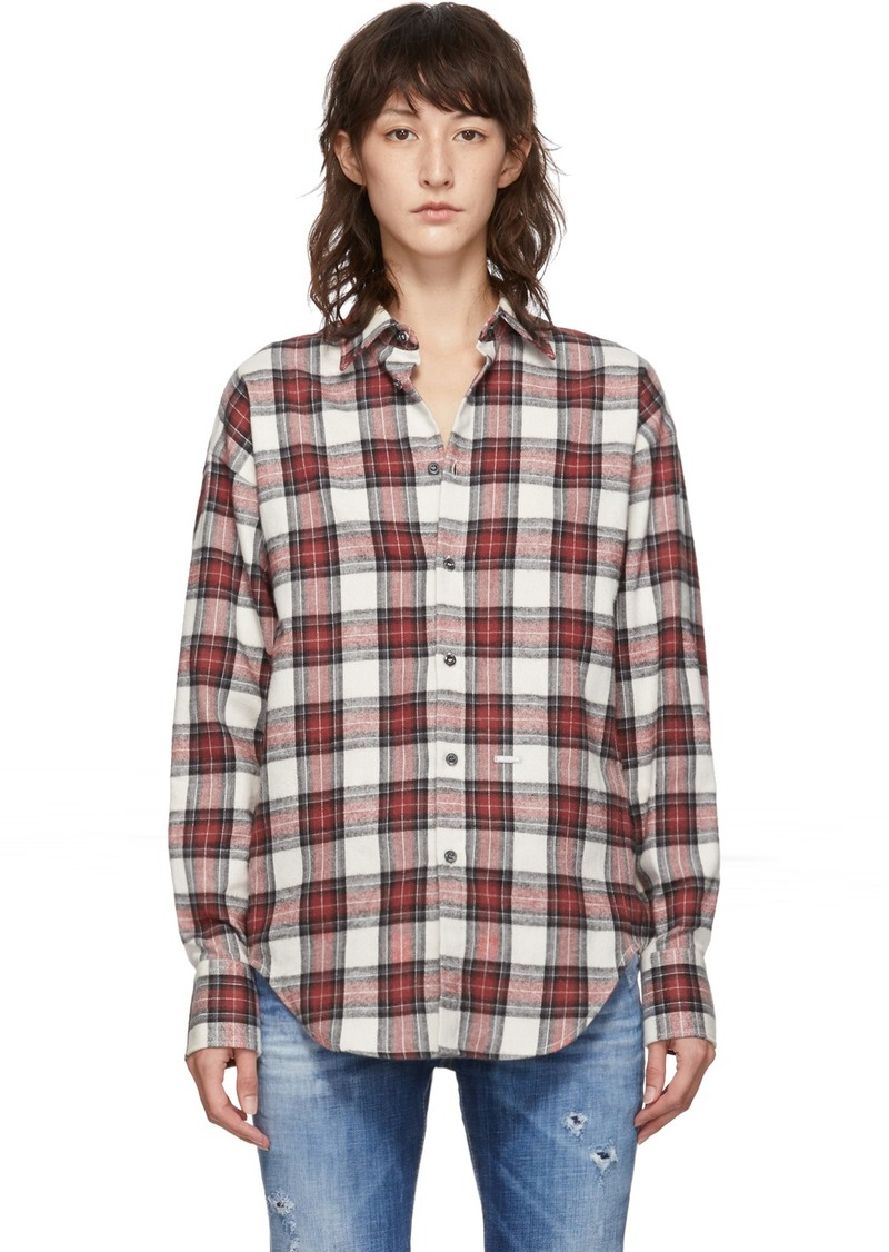 Dsquared2 Red Plaid Easy Dean Shirt