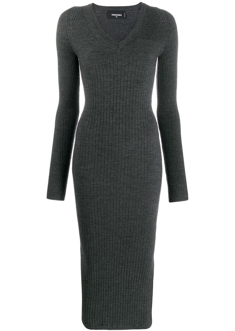 Dsquared2 ribbed knit long dress