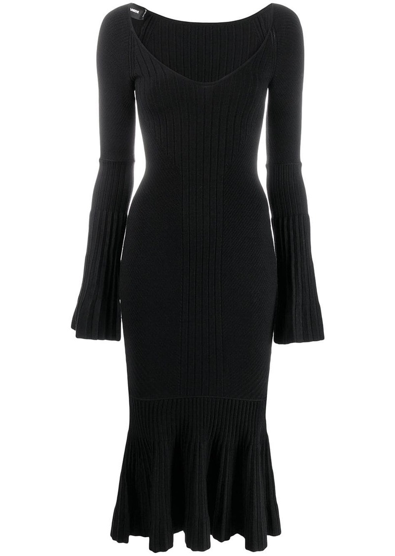 Dsquared2 ribbed tube dress