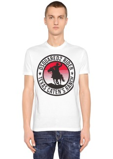 Dsquared2 Rider Printed Cotton Jersey T-shirt