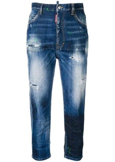 Dsquared2 ripped skinny turn up jeans