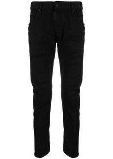Dsquared2 ripped slim-fit jeans