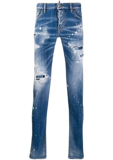 Dsquared2 Ripped White Spots slim jeans