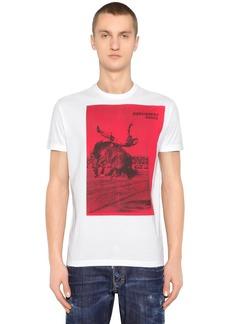 Dsquared2 Rodeo Dance Print Cotton Jersey T-shirt