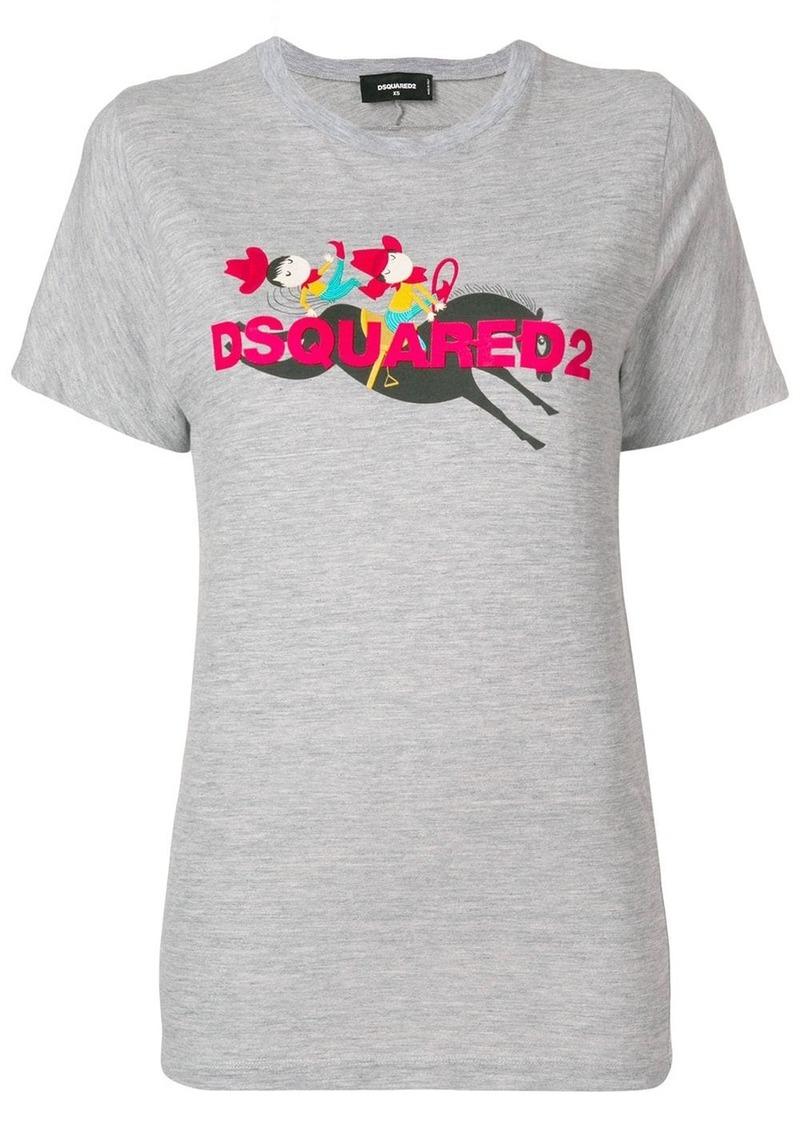 Dsquared2 rodeo print T-shirt