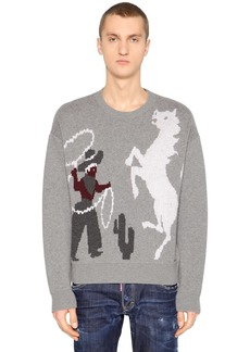 Dsquared2 Rodeo Wool Jacquard Sweater