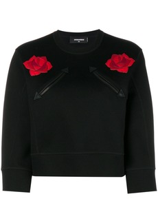 Dsquared2 rose patchwork cropped top