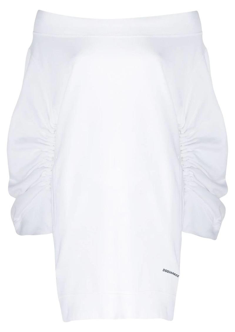 Dsquared2 ruched sleeve sweatshirt dress