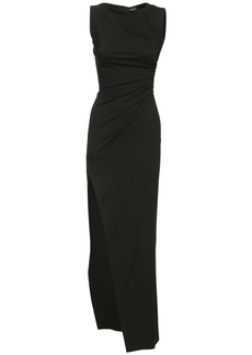 Dsquared2 Ruched Stretch Viscose Blend Long Dress