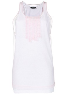 Dsquared2 ruffle detail tank top