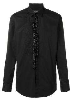 Dsquared2 ruffle placket shirt