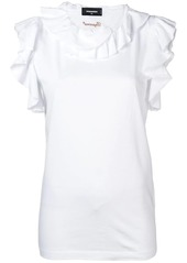 Dsquared2 ruffle trim blouse