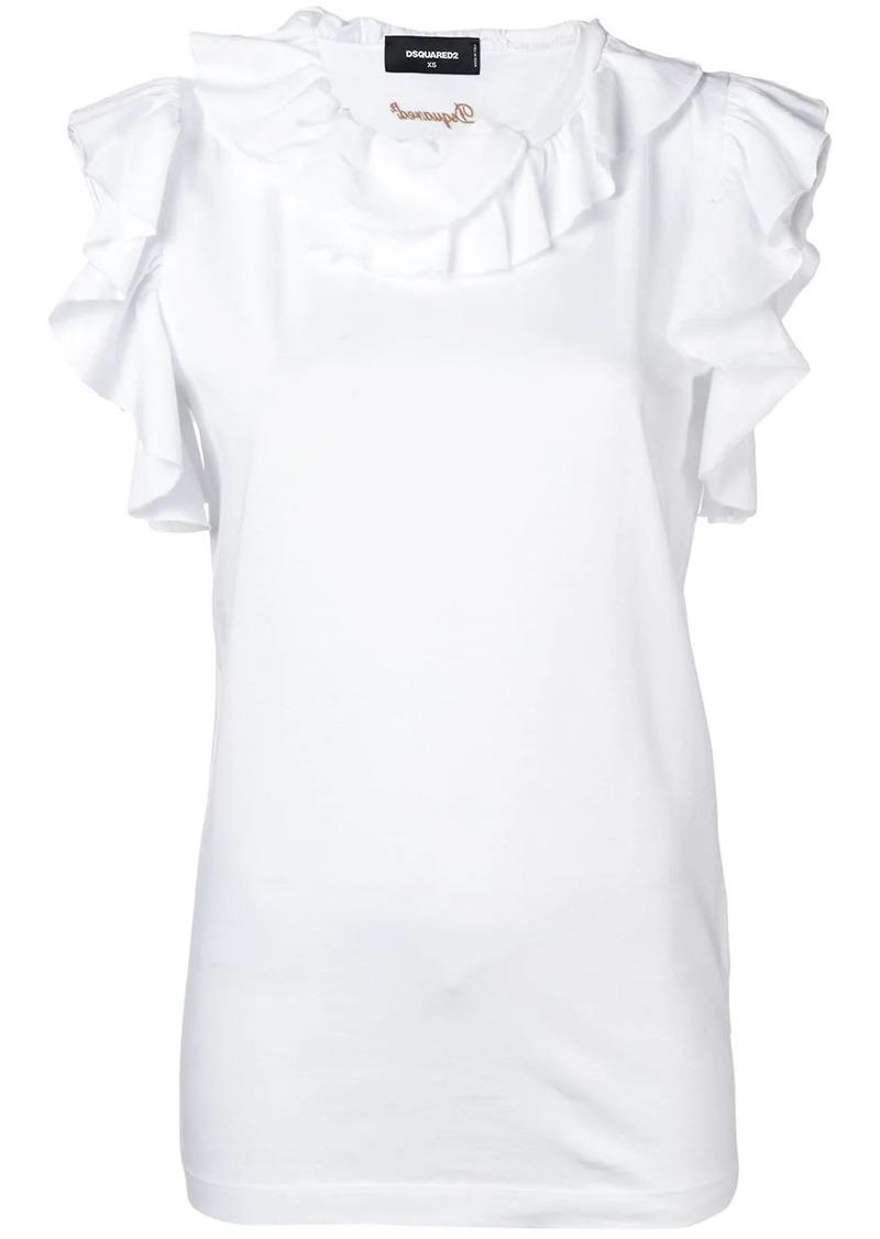 Dsquared2 ruffle trim blouse